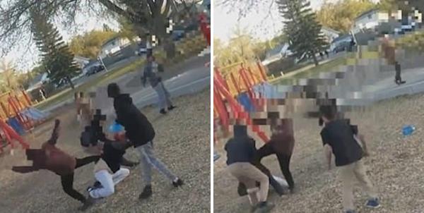 加拿大熊孩子不听规劝反而暴力群殴一无辜妇女