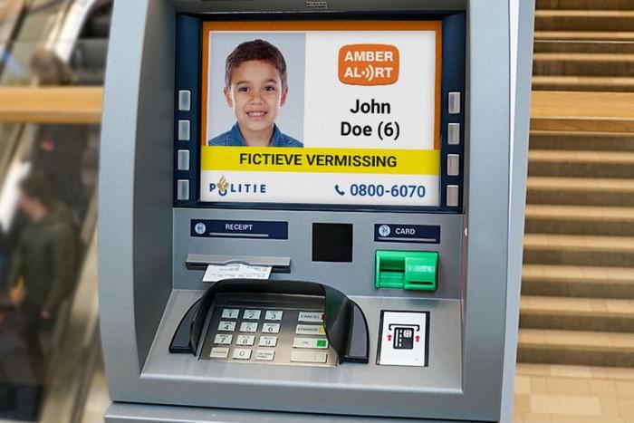 荷兰的ATM已开始显示有关失踪儿童的安珀警报
