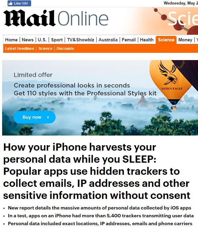 美媒在苹果手机中发现大量追踪程序,可能在人睡觉时泄露隐私_中欧新闻_欧洲中文网