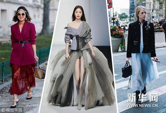春季浪漫元素 非半身纱裙莫属