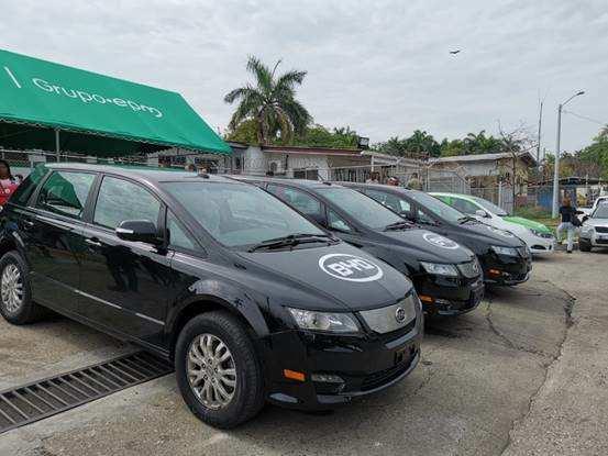 比亚迪在巴拿马推出首支纯电动出租车队