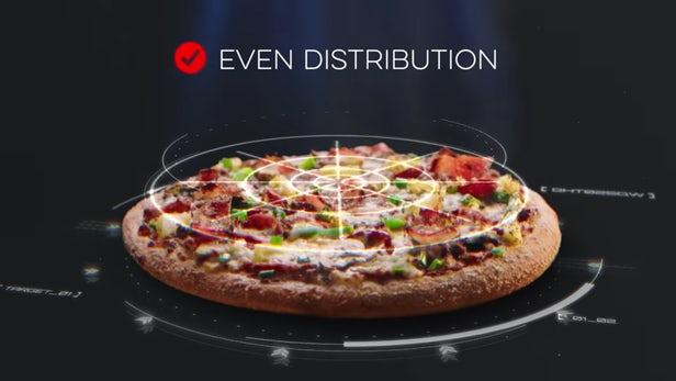 达美乐AI披萨扫描仪被用于确保产品是否合格