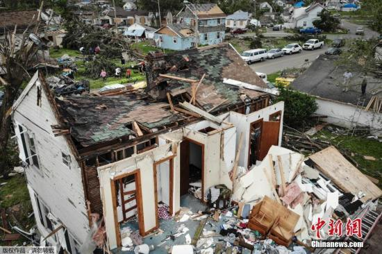 90年来最长汛期!美国中部八个州遭遇历史性洪灾