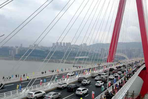 重庆万州牌楼长江大桥建成通车