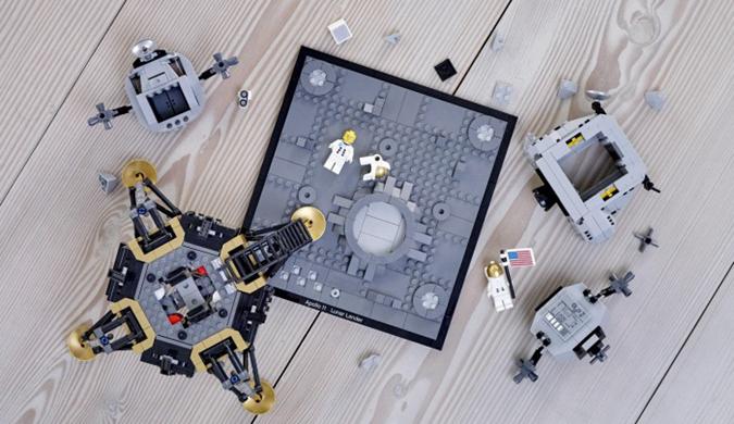乐高周四推出NASA阿波罗11登月积木套件