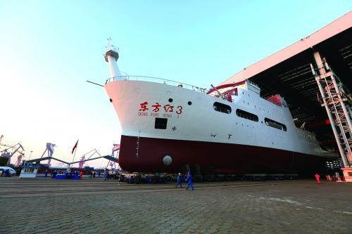 全球最大静音科考船交付