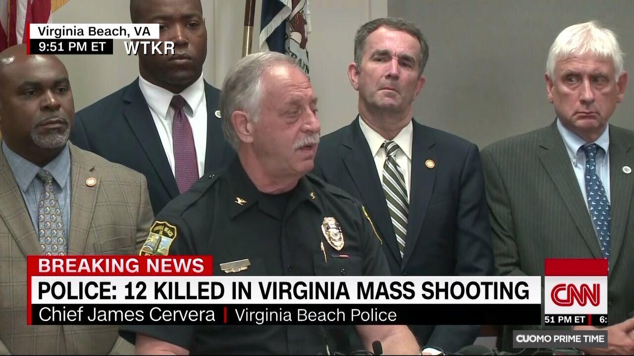 美弗吉尼亚比奇市警长:警方和嫌疑人曾进行长时间交火