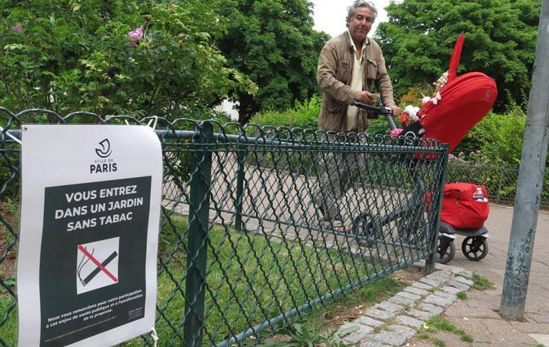 巴黎52所公园和广场将全面禁烟 违者罚款38欧元