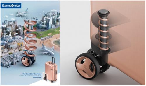 新秀丽重磅推出专利减震轮 新一轮缓震科技来临