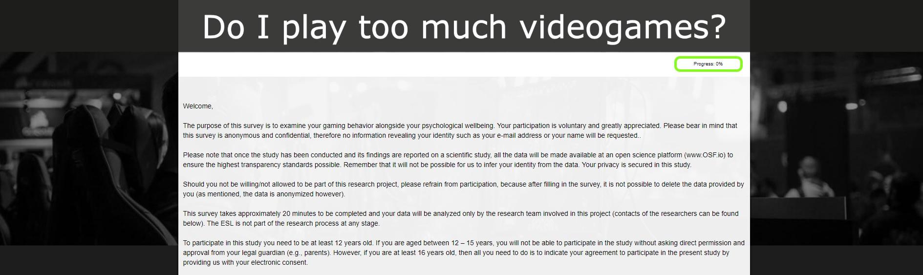 有据可依 学界为确诊游戏成瘾制作出首个心理测试