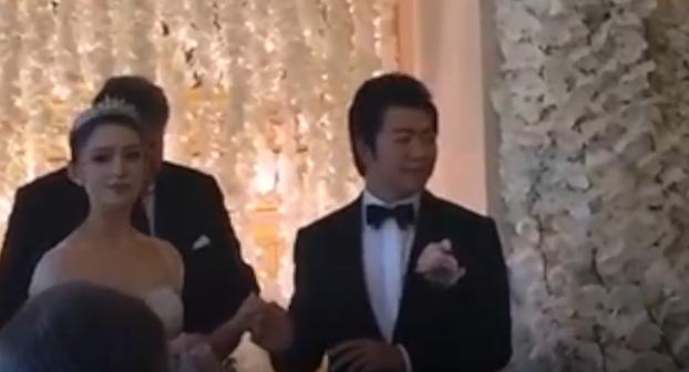 郎朗婚礼画面曝光:新娘用中文说结婚誓词