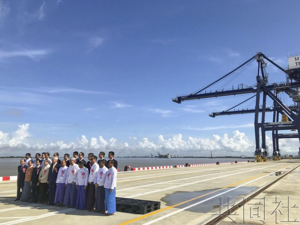 助推贸易,日本在缅甸援建的集装箱船埠启用