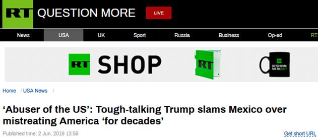 """加征关税后,特朗普又炮轰墨西哥:应用不法移平易近""""虐待""""美国数十年"""