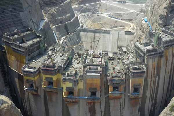 乌东德水电站建设如火如荼