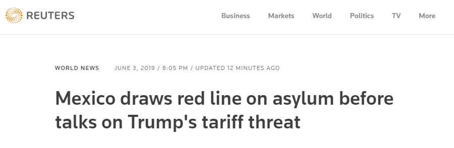 """与美国进行关税谈判前,墨西哥就""""移民庇护""""问题划红线_德国新闻_德国中文网"""