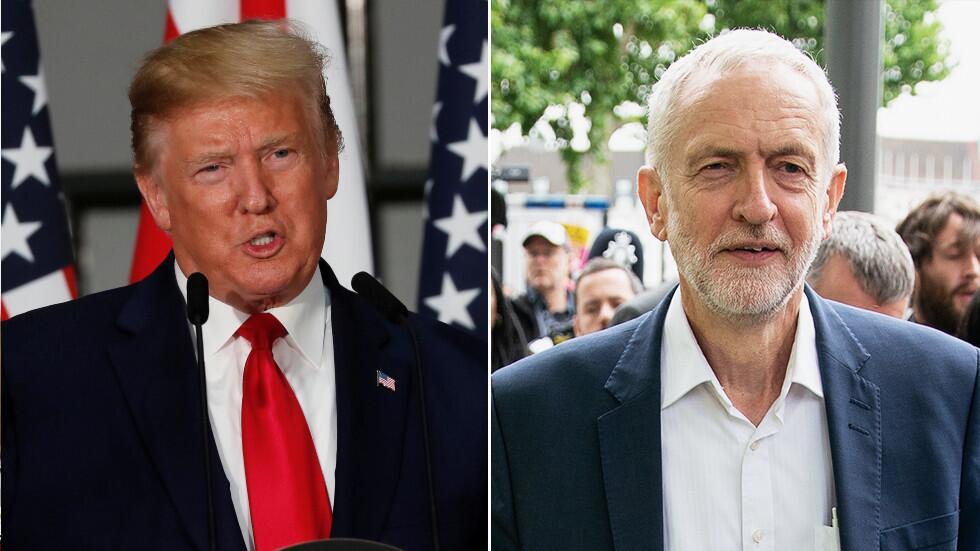 特朗普拒见工党领袖科尔宾:他是一股消极力量,我不想见