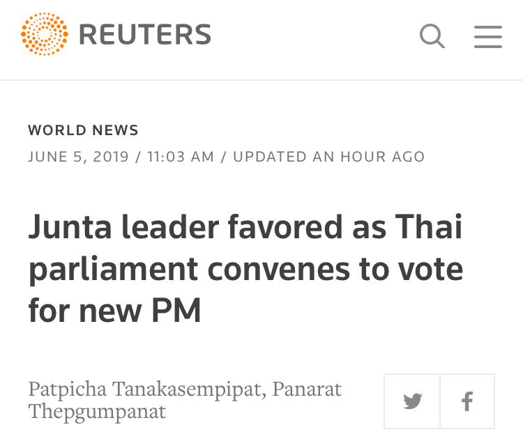 泰国今选新总理:政坛新星将与现任总理巴育竞争总理之位