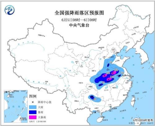 中东部有较强降水过程 黄淮江汉等地高温天气减弱