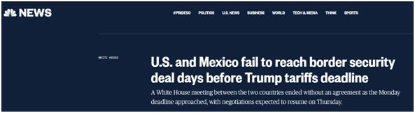 特朗普对墨加征关税大限将至 美墨仍未就边境安全达成协议_德国新闻_德国中文网