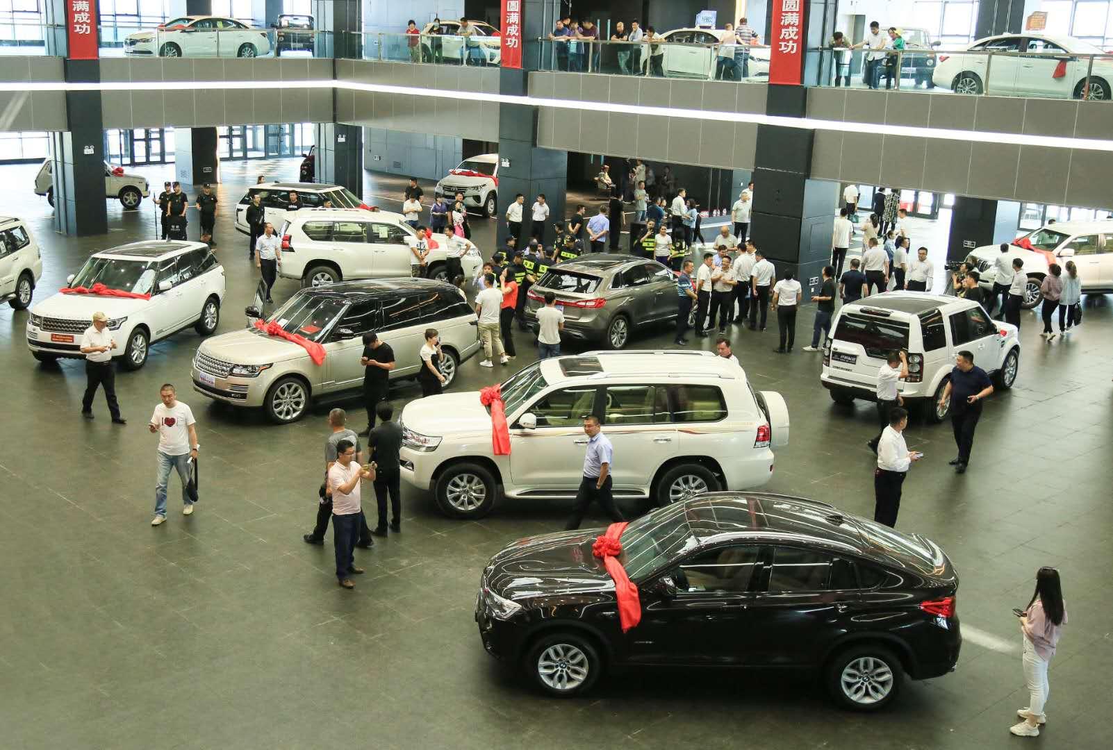 全疆最大进口整车口岸阿拉山口市平行进口汽车展馆正式开馆