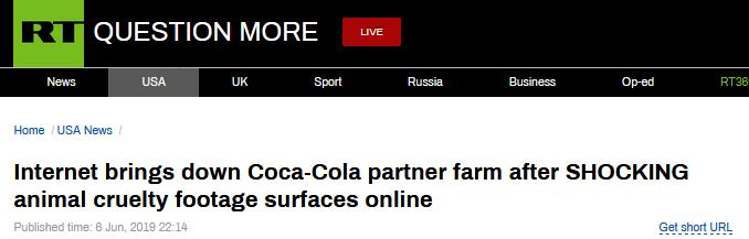 可口可乐合作农场虐待动物?网友:结束合作前,不会再喝一滴可口可乐_德国新闻_德国中文网