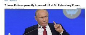 """俄媒:普京7次""""痛击""""美国"""
