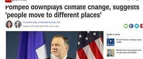 """蓬佩奥应对气候变化提""""搬家论"""""""