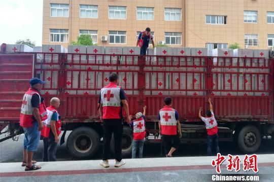 中国红十字会总会向江西灾区调拨76.76万元救灾物资
