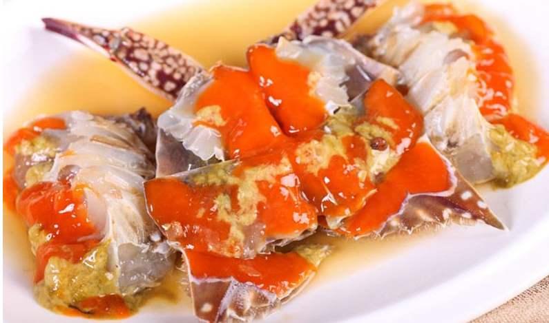 舌尖上的浙菜——红膏呛蟹