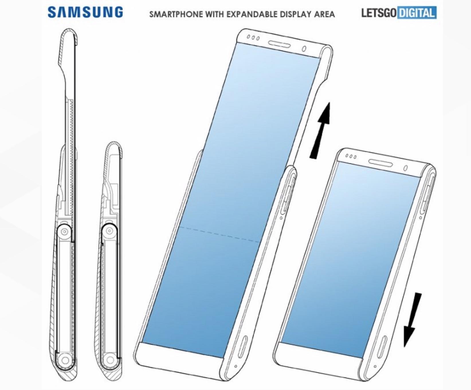 """三星""""易拉宝""""手机专利曝光:屏幕面积可增加-郑州小程序开发"""
