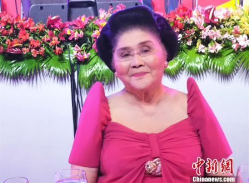 中菲建交见证者、90岁的前菲律宾总统马科斯夫人伊梅尔达·马科斯参加活动。关向东 摄