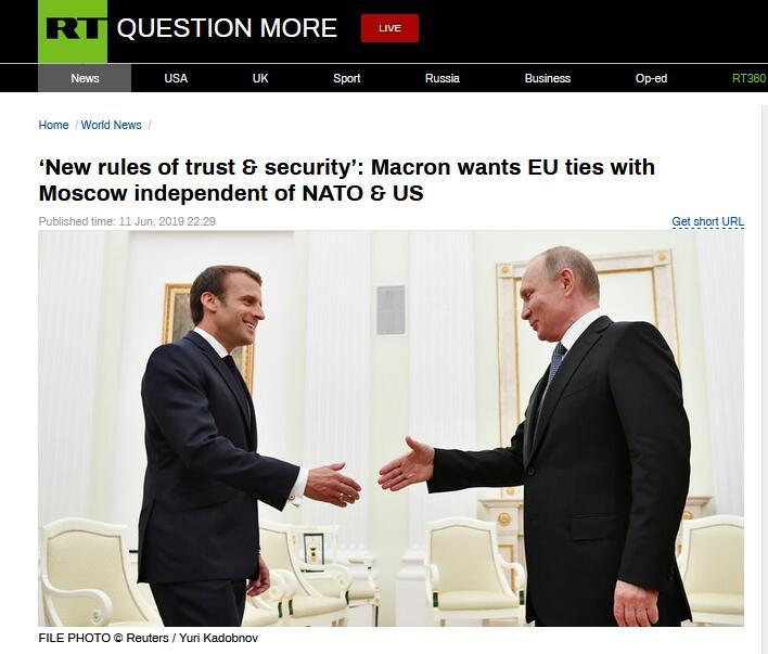 马克龙提醒欧洲恢复与俄关系:不要忘记苏联在二战中付出的代价