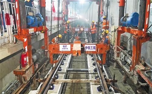 北京地铁7号线东延完成短轨道铺设