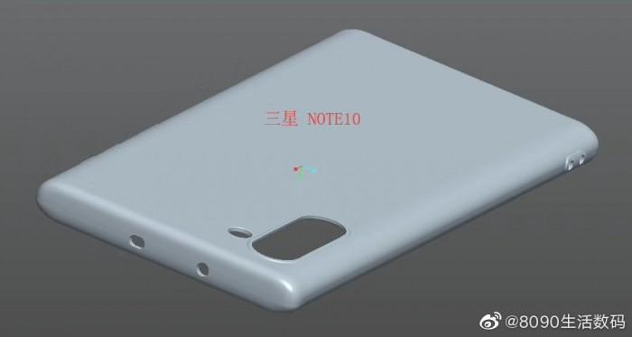 三星Note 10保护套渲染图曝光:后置垂直相机排列