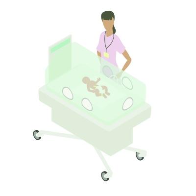 当早产儿进了重症监护病房后