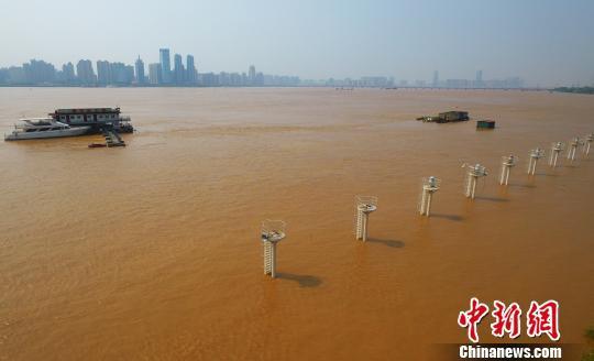赣江2019年1号洪水洪峰通过南昌段 2号洪水形成
