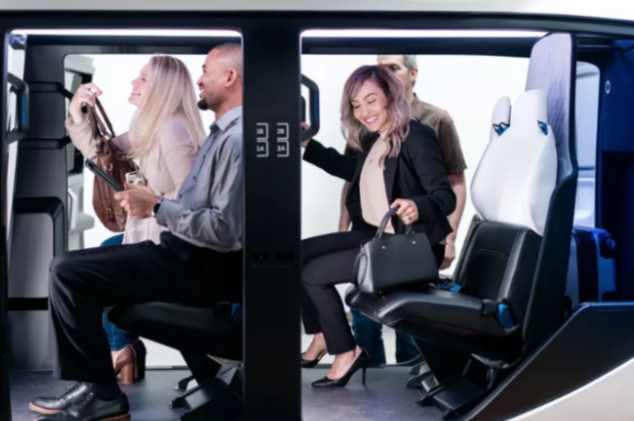 Uber展示空中出租车 内部设计有如直升机座舱