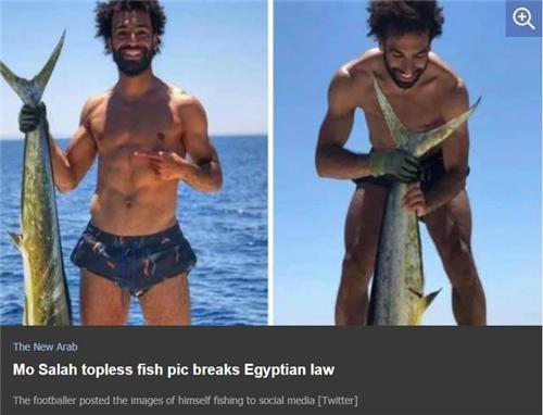 萨拉赫晒图惹祸?当地媒体:捕鱼是违法行为