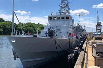 美国为乌克兰提供军援到货 巡逻艇原为海警使用