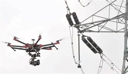 无人机在电网建设中显身手