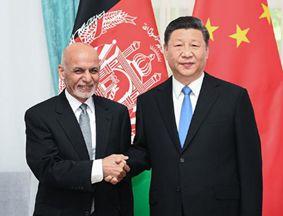 习近平会见阿富汗总统加尼