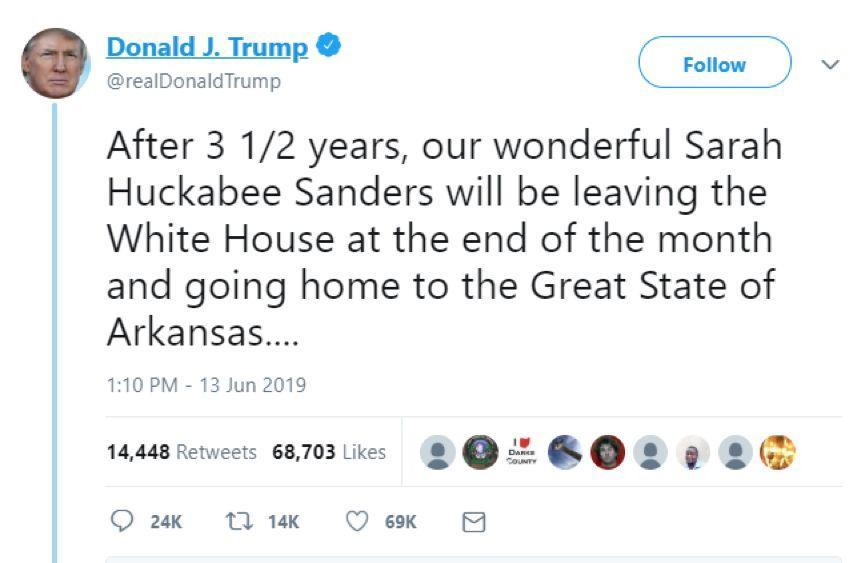 特朗普最忠诚的发言人,突然宣布走人