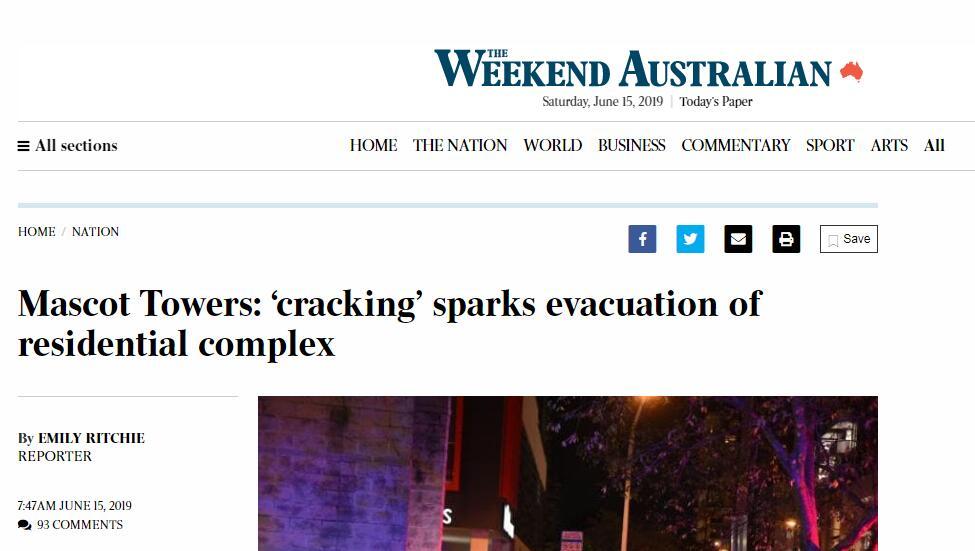 澳高层公寓地基位移 近百名住户紧急撤离