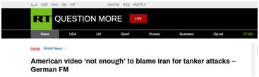 德国外长:美发布视频不足以证明伊朗袭击阿曼湾油轮
