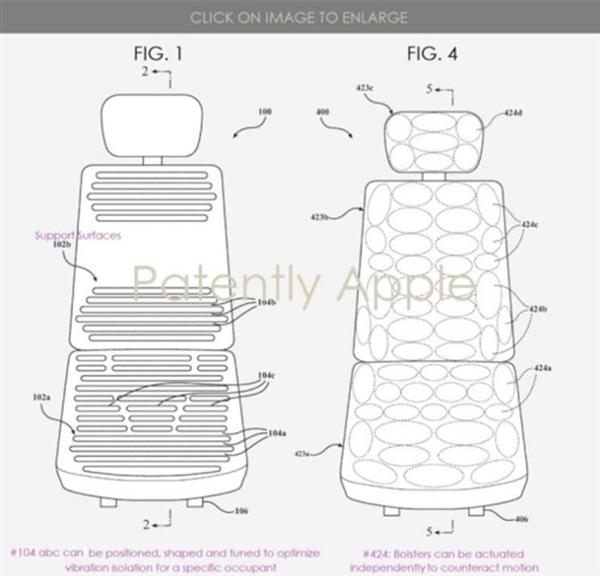 苹果获汽车座椅系统专利 可缓解晕车症状