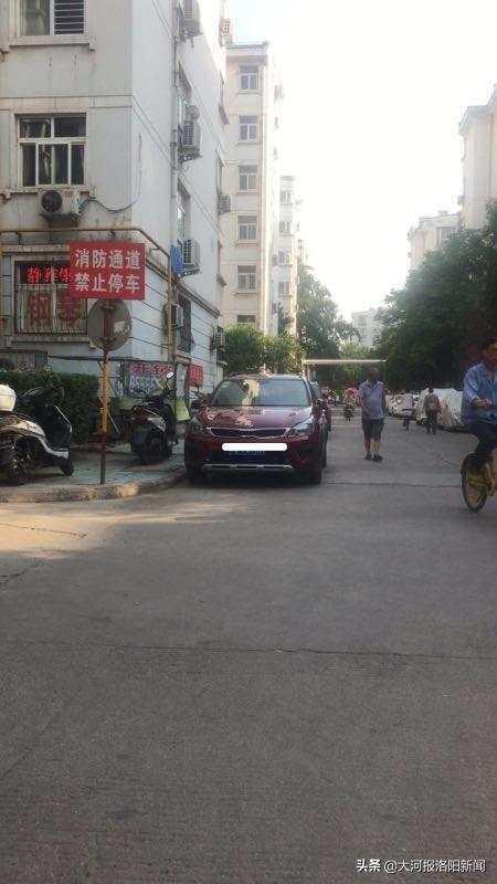 不少业主把私家车停放在小区内的路边