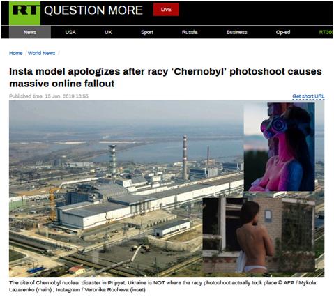 """俄模特为核电站""""不雅照""""道歉,网友:你下次"""