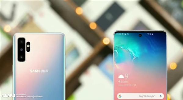 三星Galaxy Note 10搭载新式打孔屏