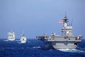 日本和加拿大举行联合海上演习 日准航母参加