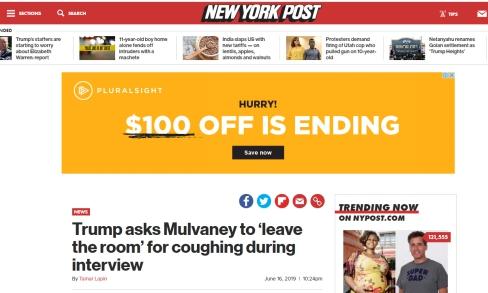 """因采访中一声咳嗽,白宫幕僚长险些被""""赶出""""办公室"""